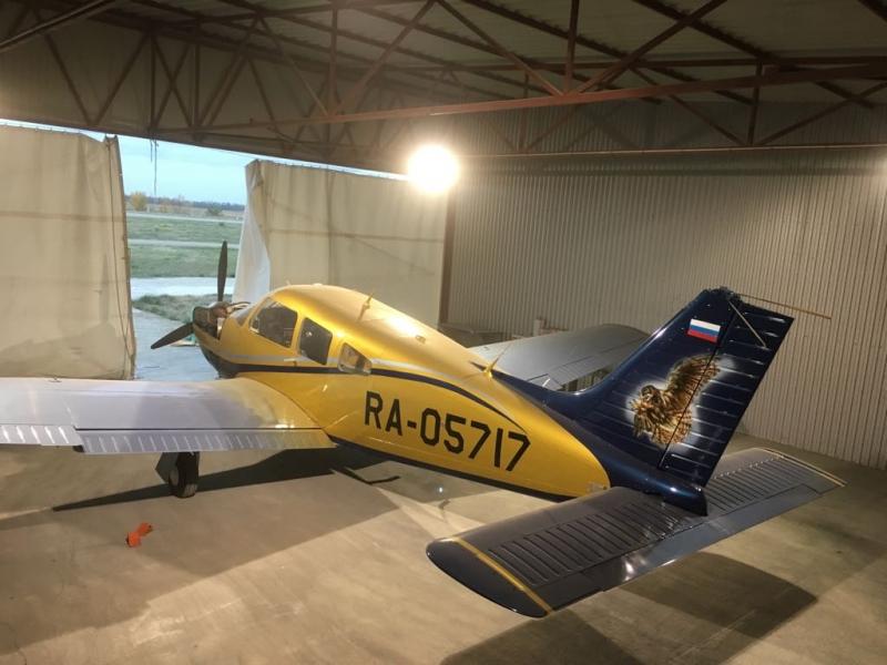 Покраска одномоторного самолета