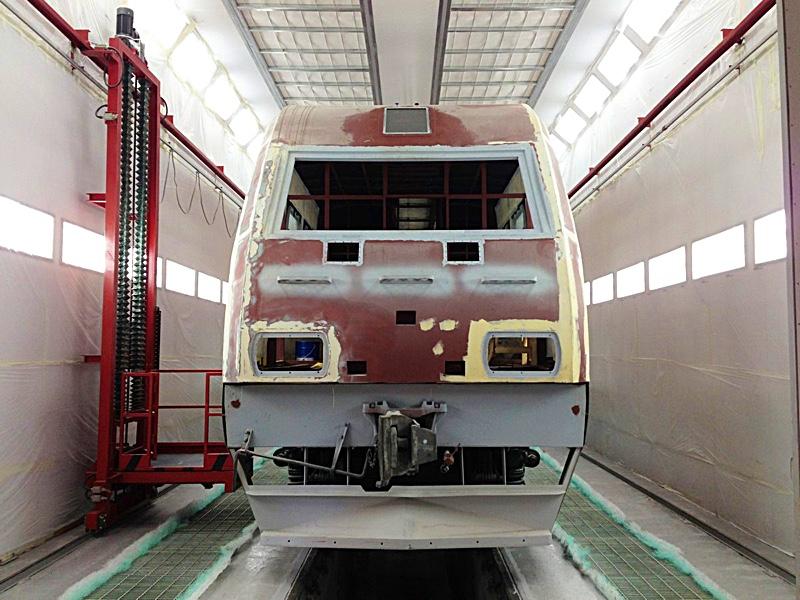 Покраска железнодорожной техники